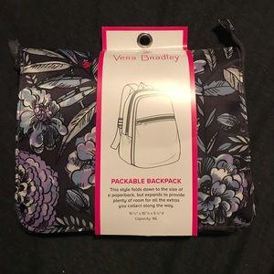 Nwt Vera Bradley packable backpack